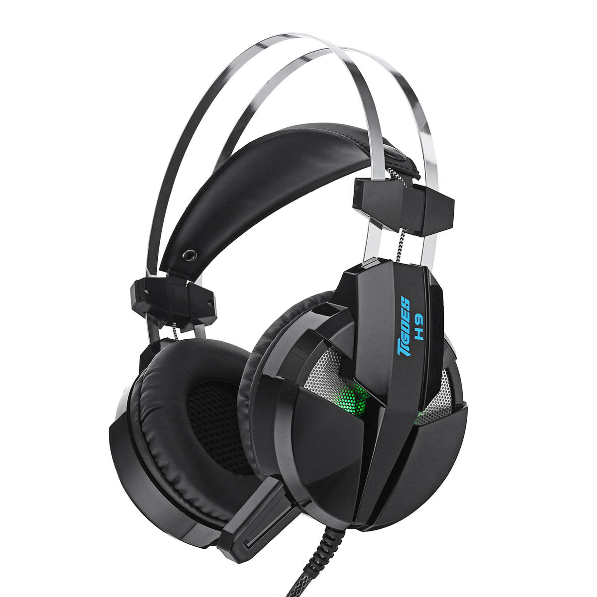 hight resolution of misde h9 gaming headphone headset led light stereo noise cancelling headphone with mic black b cod