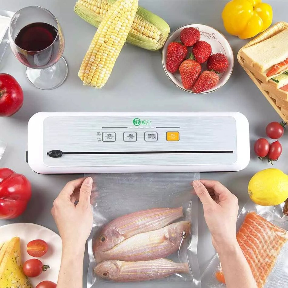 XianLi Food Vacuum Sealer Machine from Xiaomi Youpin Touch Screen One Key Operation Strong Suction Preservation Vacuum Lock Fresh Moistureproof Mildew Proof With Slide Knife