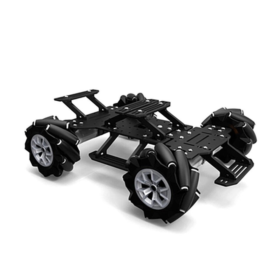 YOURFUN ROBOTICS Mecanum Wheel Robot Car 4WD Omnidirectional Smart Car Chassis 4WD 250PRE 0.65A 250RPM for Raspberry Pi STM32