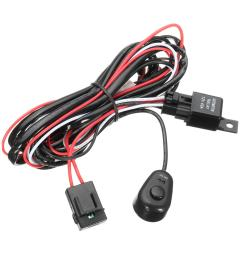 wiring harness kit with relay on off control switch 12v 40a 2m for led drl daytime running light bar cod [ 1200 x 1200 Pixel ]