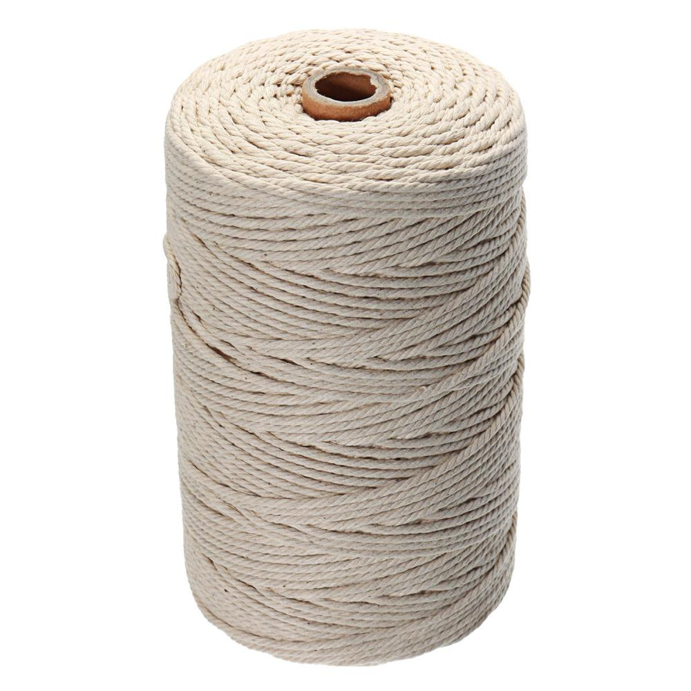 medium resolution of 5pcs 200mx3mm natural beige cotton twisted cord rope braided wire diy craft macrame string cod