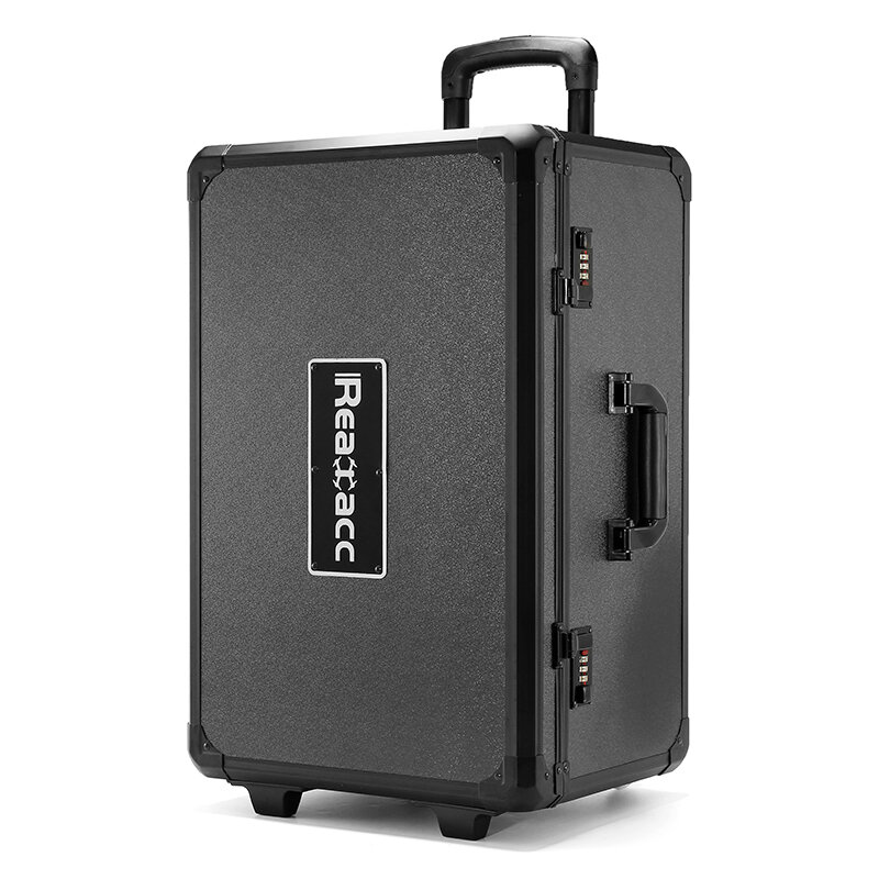 Realacc Aluminum Trolley Case Pull Rod Hand Traveling Box Case for DJI Phantom 4/ DJI Phantom 4 Pro