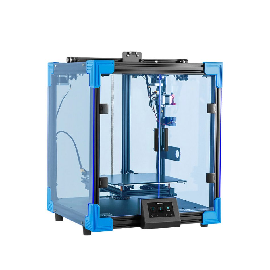 Creality 3D® Ener-6 Upgraded Cubic Structure 3D Printer 250*250*400mm Large Printer Size Branded Power Supply/Ultra-Silent Mainrboard/Carborundum Glass Printing Platform/4.3inch HD Color Touch Screen/Filament Run-out Sensor Support Resume Print
