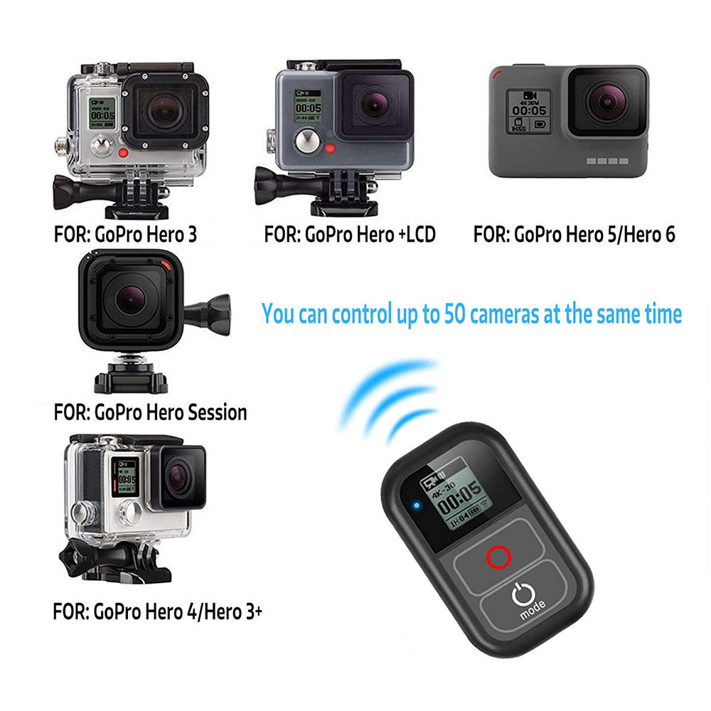 Smart wireless wifi remote control controller switch with charge cable wrist strap for gopro hero 7 6 5 4 session camera accessory Sale - Banggood.com