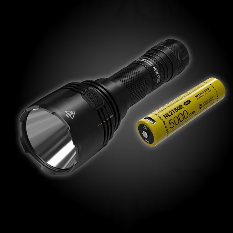 Nitecore New P30 1000LM 676 Yard Long Throw Hunting Flashlight 8 Modes Waterproof Fishing Light 21700 18650 Tactical Flashlight