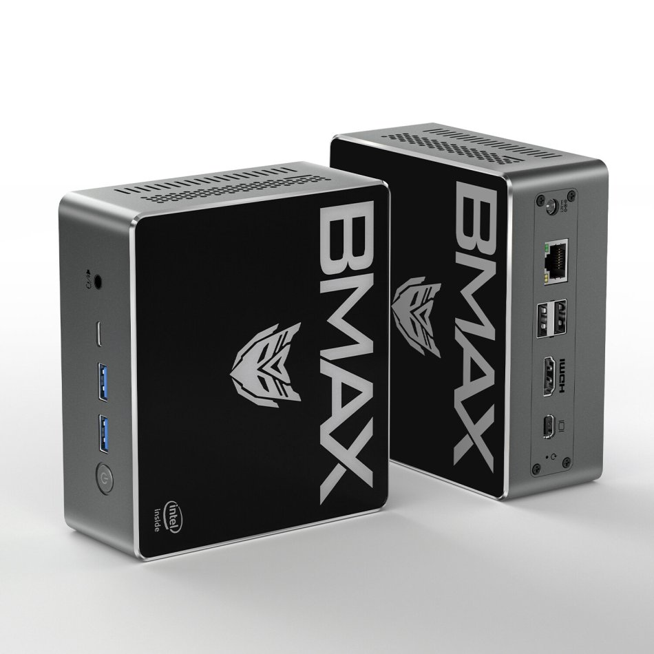 Bmax B4 Pro Mini PC Intel Core i3-8145U 8GB DDR4 256GB NVMe SSD with Two Channel Speaker Intel 9th Gen UHD Graphics 620 Dual Core 2.1GHz to 3.9GHz BT5.0 HDMI Type C Win10 WiFi