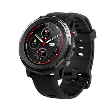 Original Amazfit stratos 3 1.34' Screen GPS+GLONASS bluetooth Music Play 14 Days Battery Smart Watch Global Version
