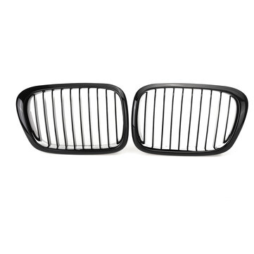 2pcs car glossy black front kidney grilles for bmw e39 5
