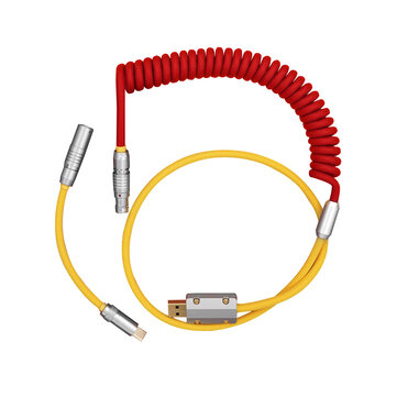 MechZone Type-C Coiled Cable for Mechanical Keyboard Handmade DIY Coiled Aviation Cable PVC USB C Power Cable