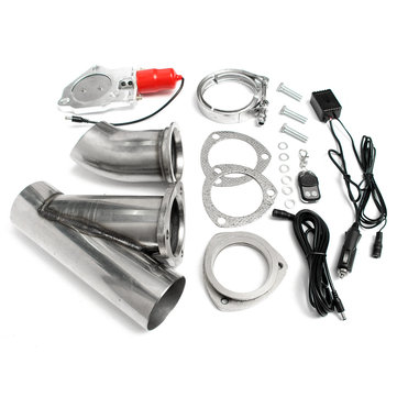 3 inch electric exhaust valve catback down pipe systems kit remote intelligent e cut