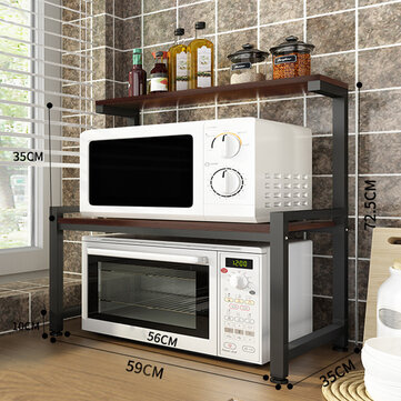 2 tier microwave oven shelf rack stand kitchen office condiment storage