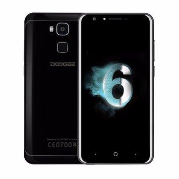 DOOGEE Y6 Piano Black 5.5 Inch Fingerprint 4GB RAM 64GB ROM MTK6750 Octa Core 4G Smartphone