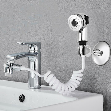 bathroom wash face basin water tap external shower head flexible hair washing pet clean faucet rinser extension set two gears adjustable shower water