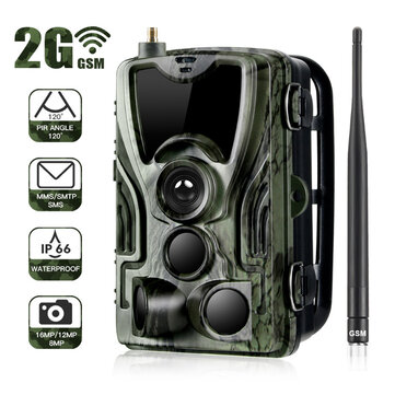 HC-801M 2G 1080P HD 16MP Hunting Wildlife Trail Track Camera Support GPRS GSM MMS SMTP SMS