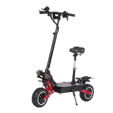 LAOTIE ES18 60V 31.2Ah 2800W*2 Dual Motor Foldable Electric Scooter With Saddle 85Km/h Top Speed 100km Mileage 200kg Bearing EU Plug