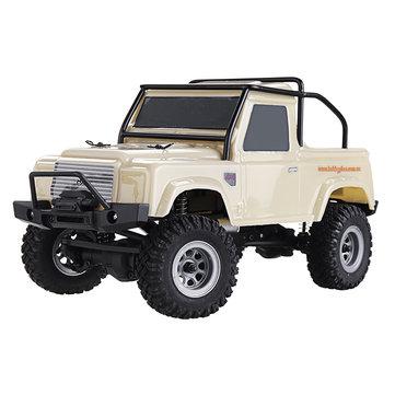 URUAV 1/24 4WD 2.4G Mini RC Car Crawler Model Vehicle Waterproof RTR With Two Battery