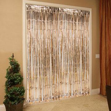 245cm rose gold foil fringe door curtains party wedding backdrop hen night decoration