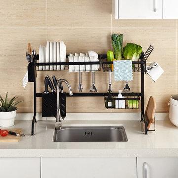 stainless steel dish rack over the sink dish drying rack holder drain shelf