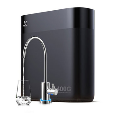 Viomi S2-400G RO Reverse Osmosis Water Filtration System TDS Reduction Home Kitchen Water Purifier UV Sterilization System App Control Water Quality Monitoring Direct Drinking Fountain Tankless