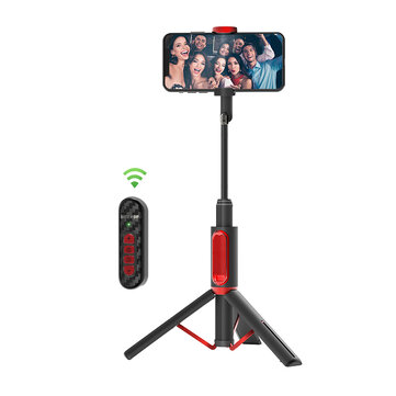 BlitzWolf® BW-BS10 Pro All-in-one bluetooth Upgrade Remote Control Selfie Stick Hidden Phone Clamp with Retractable Tripod