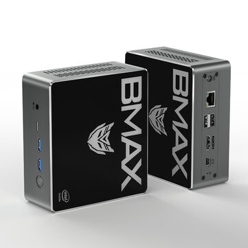 Bmax B4 Pro Mini PC Intel Core i3-8145U 8GB DDR4 256GB NVMe SSD with Two Channel Speaker Intel 9th Gen UHD Graphics 620 Dual Core 2.1GHz to 3.9GHz BT5.0 HDMI Type C Win10 WiFi