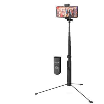 BlitzWolf® BW-BS8L Long Extendable 3 in 1 Multi-angle Rotation bluetooth Tripod Selfie Stick