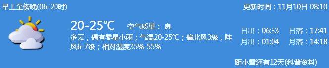 2020年11月10日深圳天氣 多云偶有零星小雨- 深圳本地寶