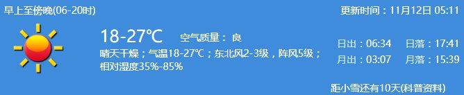 2020年11月12日深圳天氣晴天干燥氣溫18-27℃- 深圳本地寶