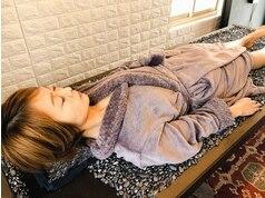 施術中陶盤浴で動きが良い健康な身体に美肌代謝アップ促進30分1100円軽く発汗