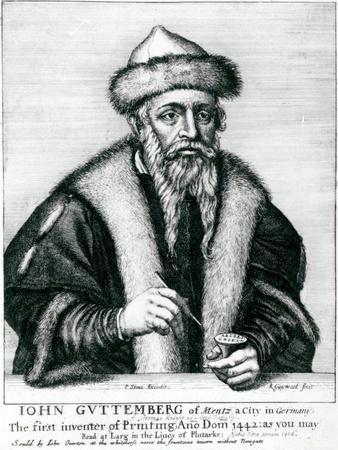 'Portrait of Johannes Gutenberg' Giclee Print ...