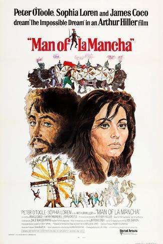 Image result for man of la mancha poster