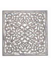 Large Carved Wooden Wall Panel - Nordic House