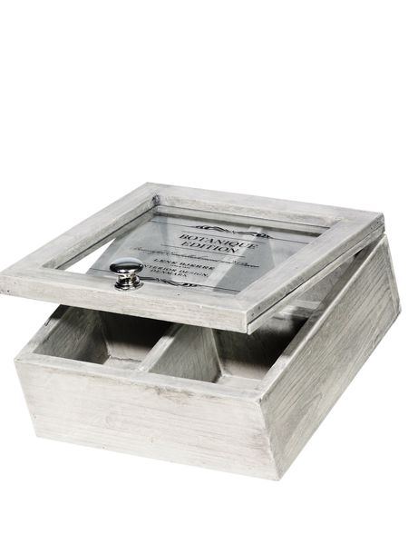 wooden display boxes - light stone