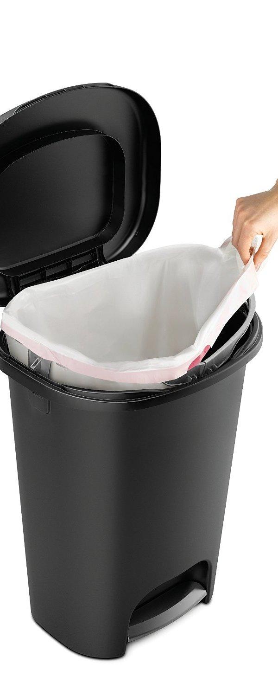 13 gallon kitchen trash can home depot ceiling lights 19 97 原价 29 84 rubbermaid 13加仑踩踏式垃圾桶 北美省钱快报 踏板为不锈钢材质 垃圾桶内另有可以固定垃圾袋的边缘塑料圈 非常结实耐用 容量为13加仑 是美国最常见的垃圾桶大小 美国制造
