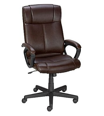 staples turcotte chair brown ot posture ultra luxura high back executive 59 99 dealmoon