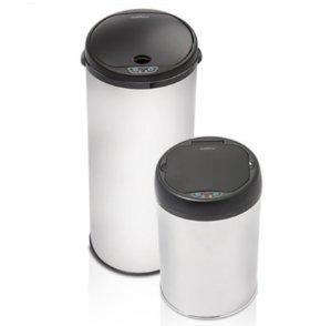 13 gallon kitchen trash can coffee color cabinets 49 99 modernhome 不锈钢感应垃圾桶2个装 13加仑 4加仑 北美省钱快报 99modernhome