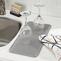 Kitchen Dish Drying Mat Beach House Backsplash Ideas Interdesign 厨房台面硅胶水槽干燥垫2456538 12 86 北美省钱快报 厨房干燥垫