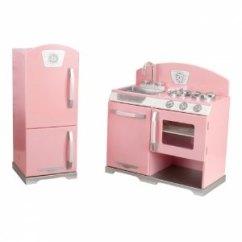 Kid Craft Kitchen Corner Storage Kidkraft 木质豪华厨房和冰箱儿童玩具粉色2633273 178 99 北美省钱快报
