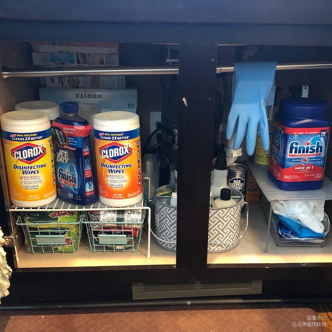 tall kitchen bags planning guide 家里厨房水池下面终于整理出来了 北美省钱快报 高大的厨房袋
