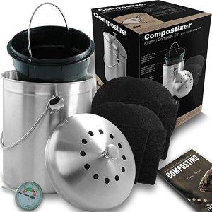 kitchen composter remodel ideas on a budget compostizer 厨房堆肥桶2635891 29 98 北美省钱快报 厨房堆肥