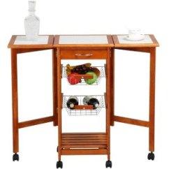 Portable Kitchen Cart Back Splash Ideas Yaheetech 便携式可开合厨房小推车2549555 37 25 北美省钱快报 便携式厨房推车