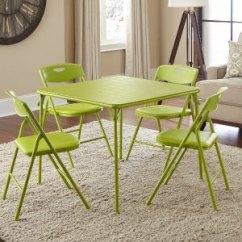 Amazon Kitchen Table Navy Blue Cabinets 亚马逊史低 29 33 Cosco Products 折叠餐桌椅五件套苹果绿 北美省钱快报 33cosco