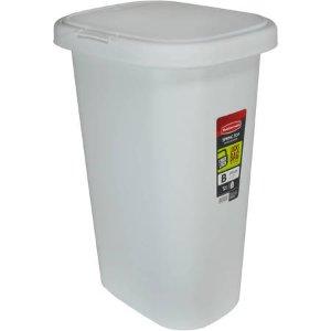 13 gallon kitchen trash can decorating cabinets 低至8 5折rubbermaid 13加仑垃圾桶白色 北美省钱快报