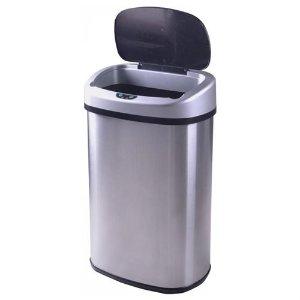 13 gallon kitchen trash can rustic lights 31 99 包邮免税自动感应式不锈钢垃圾桶13加仑 北美省钱快报