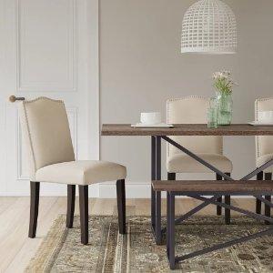 kitchen table bench seat chromcraft furniture chair with wheels 44 99起两种长度可选wynnefield mixed material trestle 餐桌长椅 北美