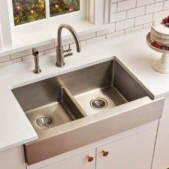 Elkay Kitchen Sinks Kraus Faucet Crosstown 33吋双盆型不锈钢水槽 北美省钱快报