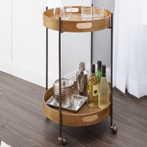 kitchen cart table canisters better homes gardens 木质小桌板金属架厨房移动小推车3057703 101 10 北美省钱快报