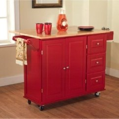Red Kitchen Islands Small Dinette Sets 红色超大厨房岛 北美省钱快报 Tms