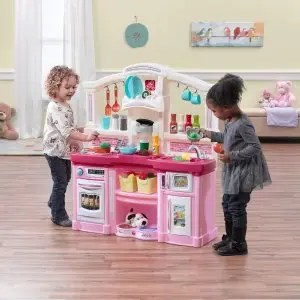 kidkraft toy kitchen lacquer cabinets all time play 儿童玩具厨房带配件3018064 相似同款