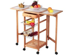 kitchen island carts tile 47 99 厨房可移动中岛收纳小推车 北美省钱快报 99厨房可移动中岛收纳小推车